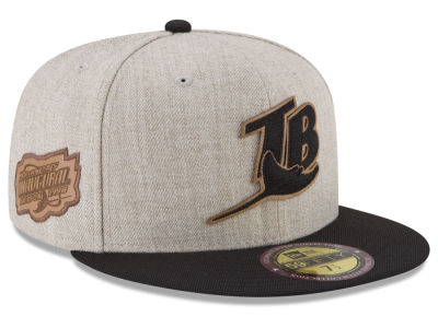 Tampa Bay Rays New Era MLB Leather Ultimate Patch Collection 59FIFTY Cap