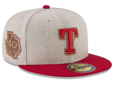 Texas Rangers New Era MLB Leather Ultimate Patch Collection 59FIFTY Cap