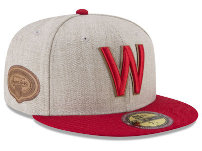 Washington Senators New Era MLB Leather Ultimate Patch Collection 59FIFTY Cap