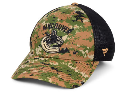 5293dfca271 Vancouver Canucks NHL Military Appreciation Speed Flex Cap