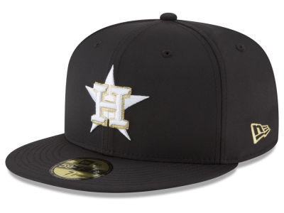 Houston Astros New Era MLB Gold Out 59FIFTY Cap