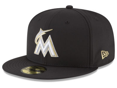 Miami Marlins New Era MLB Gold Out 59FIFTY Cap