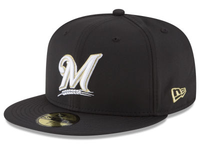 Milwaukee Brewers New Era MLB Gold Out 59FIFTY Cap