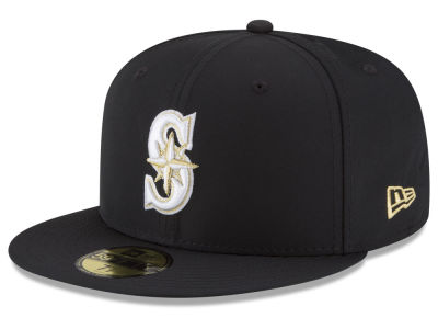Seattle Mariners New Era MLB Gold Out 59FIFTY Cap