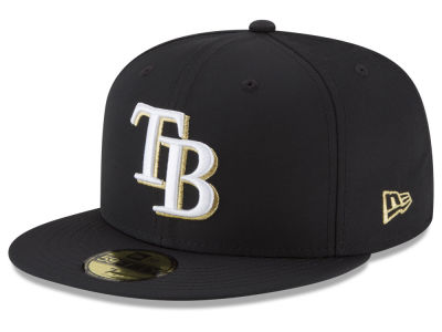 Tampa Bay Rays New Era MLB Gold Out 59FIFTY Cap