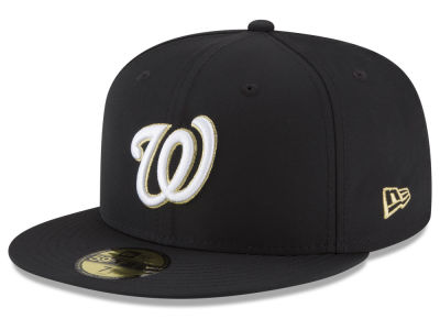 Washington Nationals New Era MLB Gold Out 59FIFTY Cap