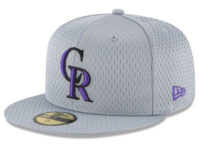 Colorado Rockies New Era MLB Batting Practice Mesh 59FIFTY Cap