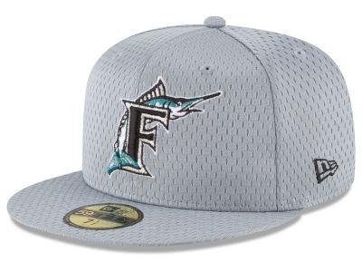 73b8e6facc1 Florida Marlins New Era MLB Batting Practice Mesh 59FIFTY Cap