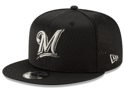 Milwaukee Brewers New Era MLB Batting Practice Mesh 9FIFTY Snapback Cap