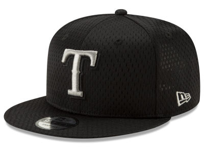 Texas Rangers New Era MLB Batting Practice Mesh 9FIFTY Snapback Cap