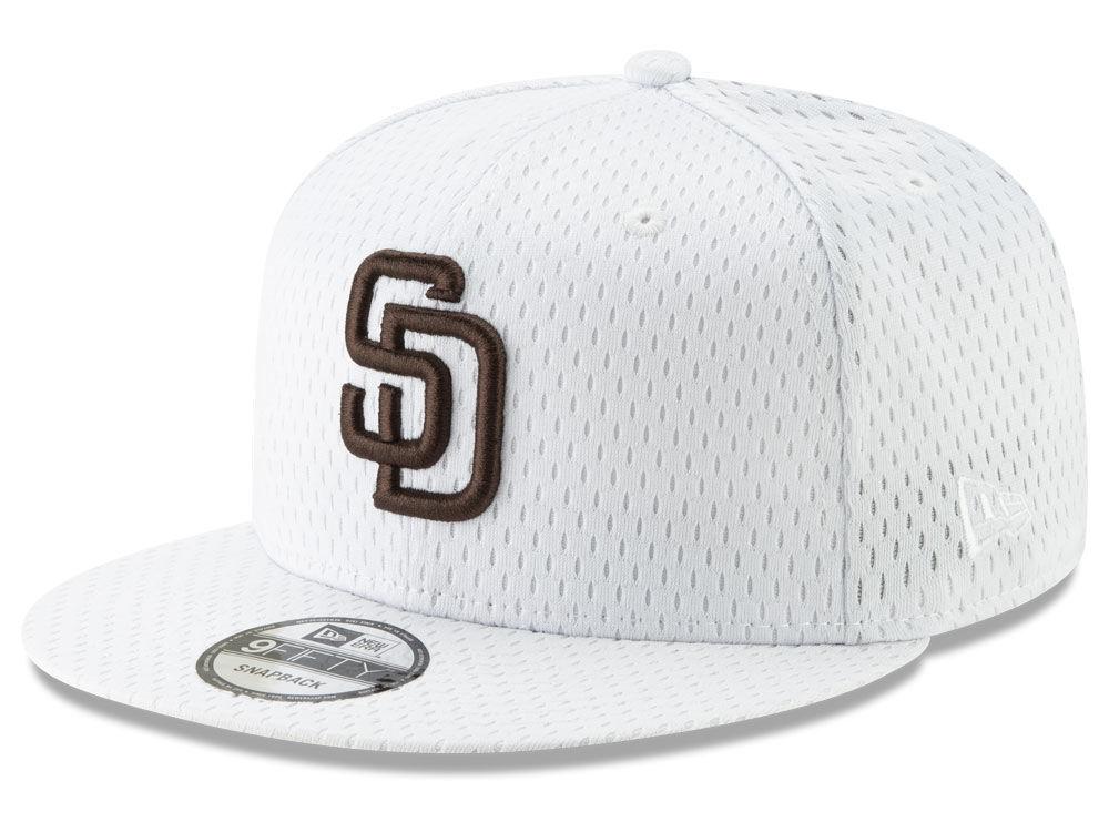 San Diego Padres New Era MLB Batting Practice Mesh 9FIFTY Snapback Cap  8f297241d57a