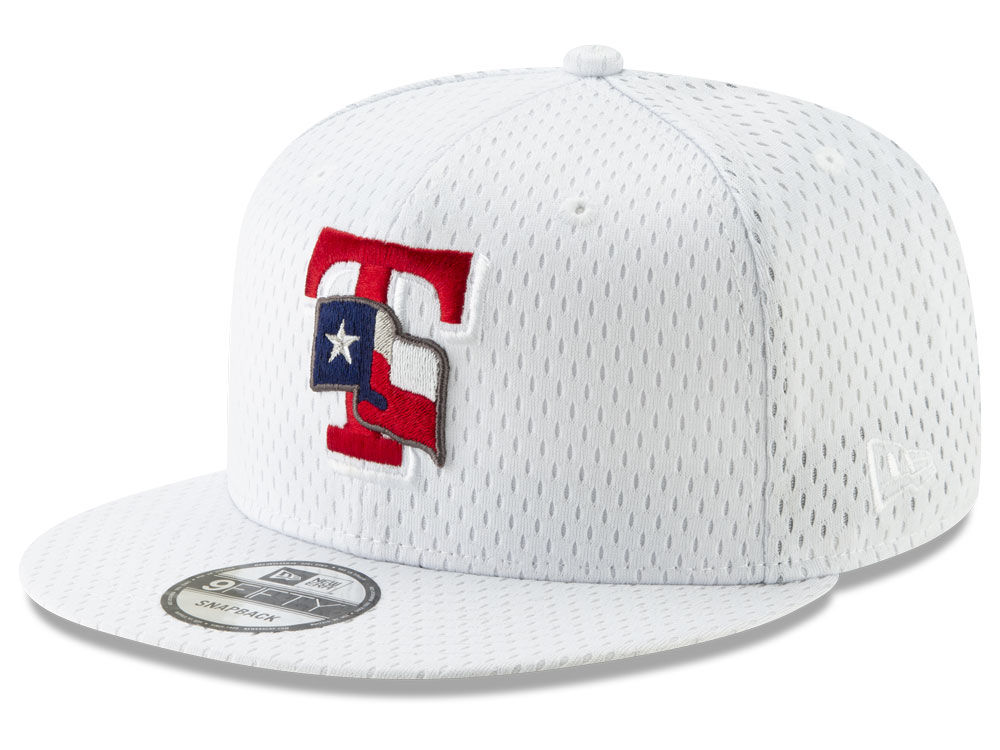 9f5a70a2656 Texas Rangers New Era MLB Batting Practice Mesh 9FIFTY Snapback Cap ...