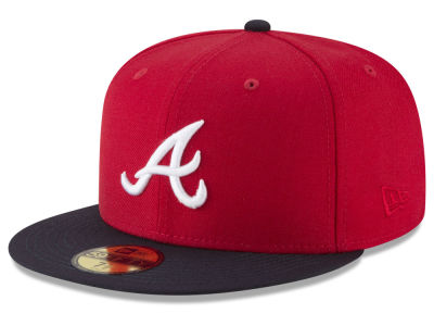 Atlanta Braves New Era MLB Batting Practice Wool Flip 59FIFTY Cap