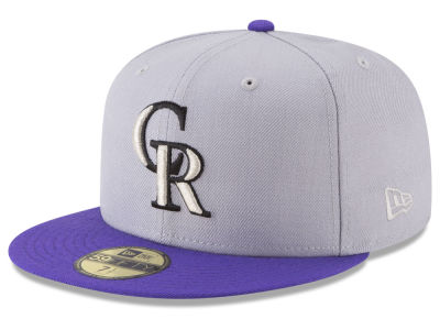 Colorado Rockies New Era MLB Batting Practice Wool Flip 59FIFTY Cap
