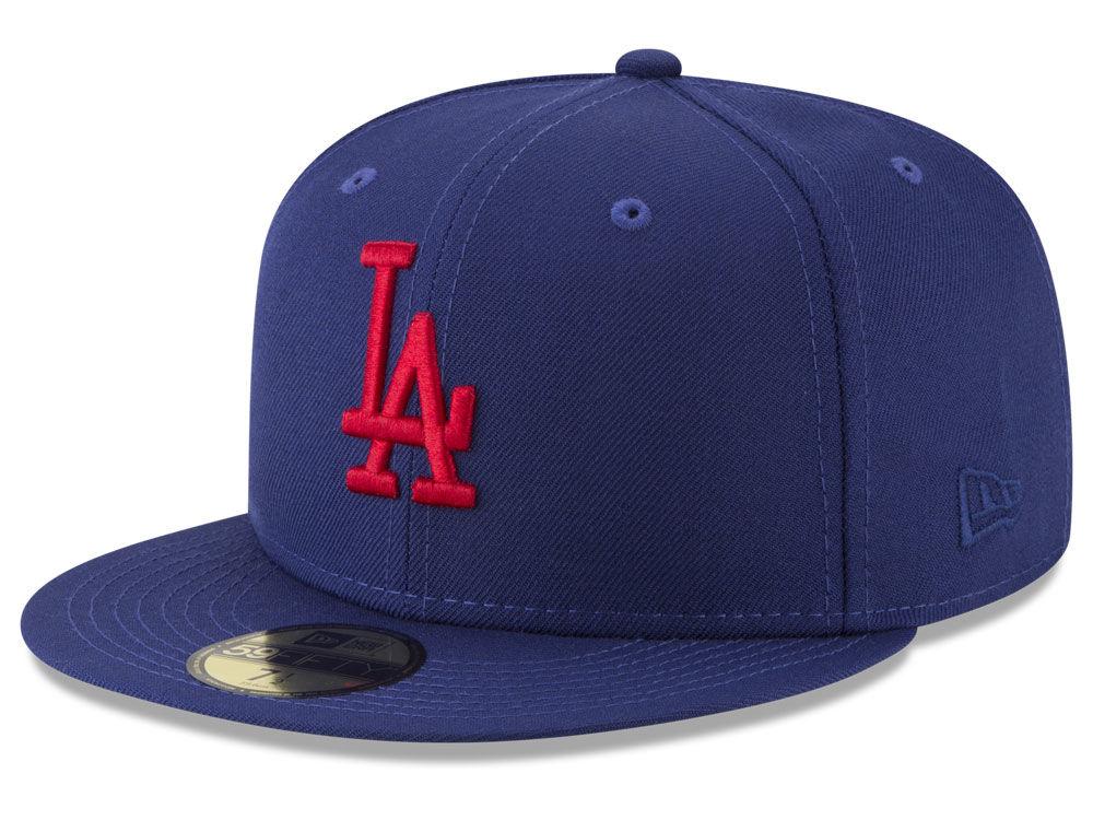 Los Angeles Dodgers New Era MLB Batting Practice Wool Flip 59FIFTY Cap  38860b5eddbb