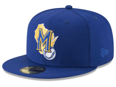 Milwaukee Brewers New Era MLB Batting Practice Wool Flip 59FIFTY Cap