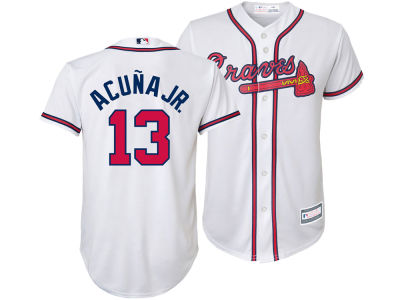 Atlanta Braves Ronald Acuna Majestic MLB Youth Player Replica Cool Base Jersey