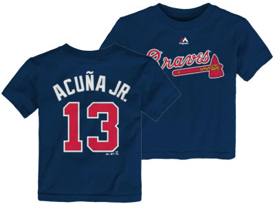Atlanta Braves Ronald Acuna Majestic MLB Toddler Official Player T-Shirt
