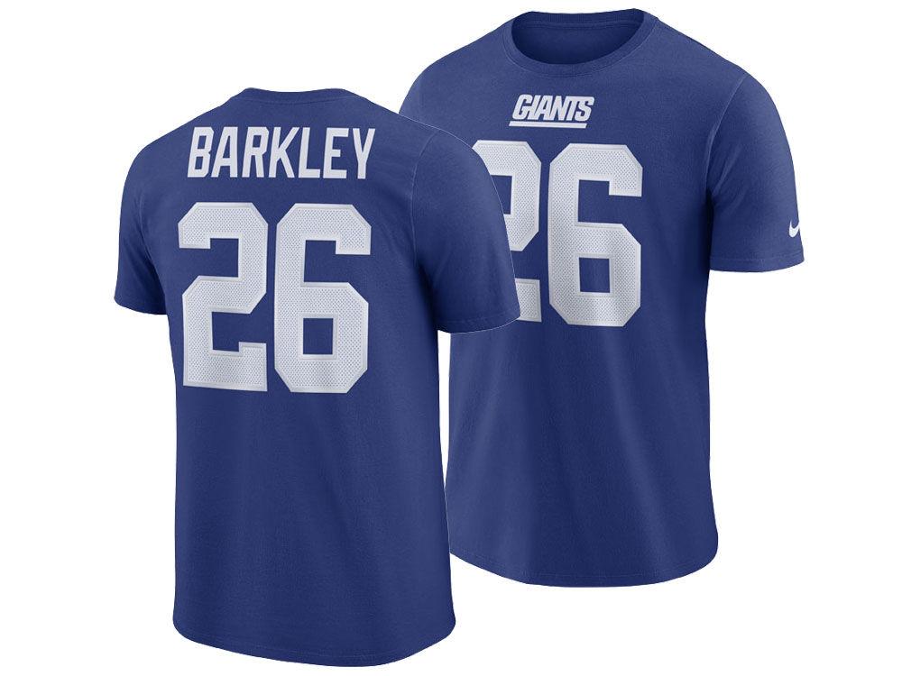 New York Giants Saquon Barkley Nike NFL Men s Pride Name and Number  Wordmark T-shirt  985e9f467