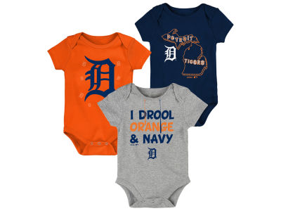 Detroit Tigers Majestic MLB Newborn Big Time Fan 3pc Set