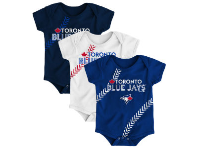 Toronto Blue Jays Majestic MLB Infant Fan-Tastic 3 Piece Set
