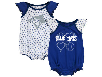 Toronto Blue Jays Majestic MLB Infant Girls Play With Heart 2 Piece Set