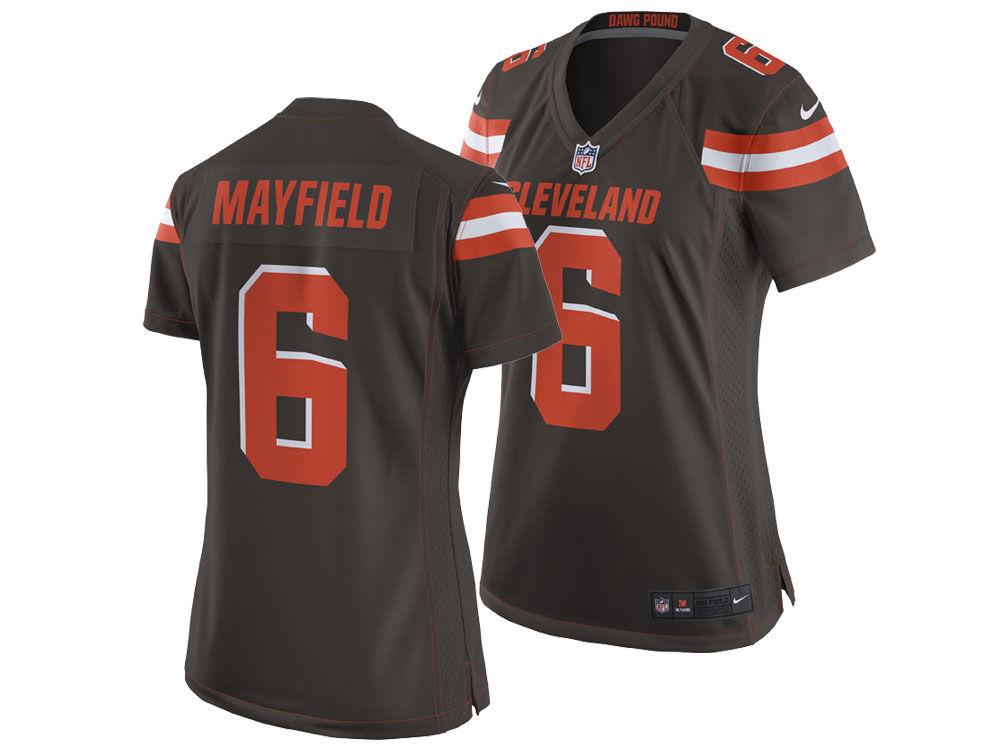 7cb0bd984 Cleveland Browns Baker Mayfield Nike NFL Women s Game Jersey
