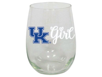 Kentucky Wildcats 15oz Girl Stemless Wine Glass