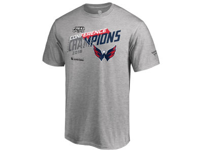 Washington Capitals Majestic 2018 NHL Men's Chip Pass Conference Champs T-shirt