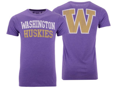 Washington Huskies Retro Brand NCAA Men's Team Stacked Dual Blend T-Shirt