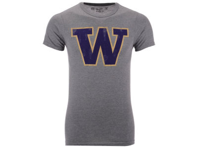 Washington Huskies Retro Brand NCAA Men's Logo Dual Blend T-Shirt