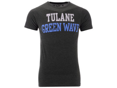 Tulane Green Wave Retro Brand NCAA Men's Team Stacked Dual Blend T-Shirt
