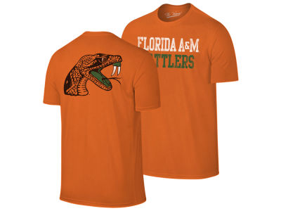 Florida A&M Rattlers Retro Brand NCAA Men's Team Stacked Dual Blend T-Shirt