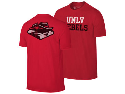 UNLV Runnin Rebels The Victory NCAA Men's Team Stacked Dual Blend T-Shirt
