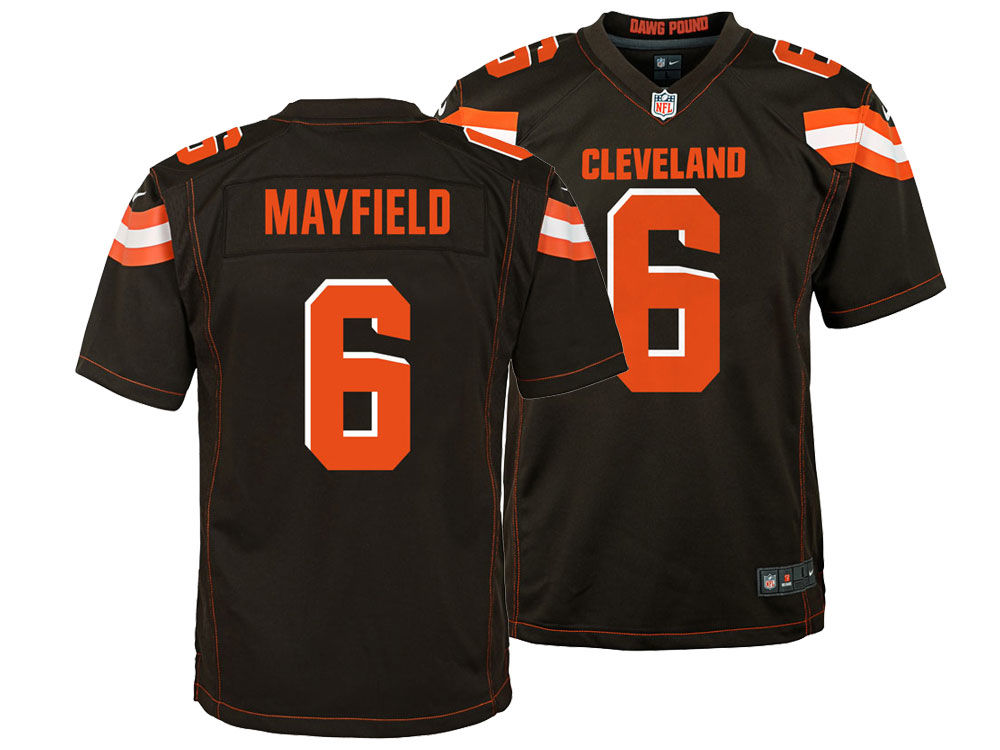 Cleveland Browns Baker Mayfield Nike NFL Youth Game Jersey  2b85d1220