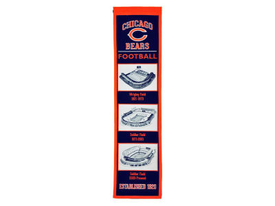Chicago Bears Winning Streak Stadium Evolution Banner