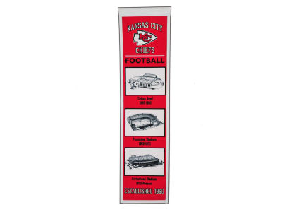 Kansas City Chiefs Winning Streak Stadium Evolution Banner