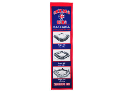 Chicago Cubs Winning Streak Stadium Evolution Banner
