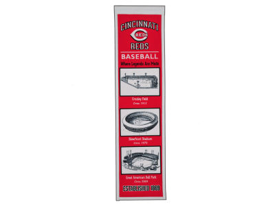 Cincinnati Reds Winning Streak Stadium Evolution Banner