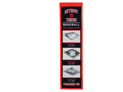 Detroit Tigers Winning Streak Stadium Evolution Banner