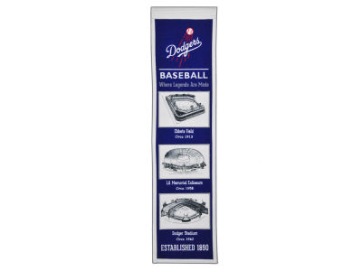 Los Angeles Dodgers Winning Streak Stadium Evolution Banner
