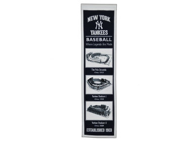 New York Yankees Winning Streak Stadium Evolution Banner
