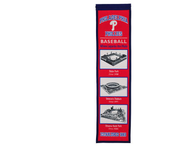 Philadelphia Phillies Winning Streak Stadium Evolution Banner