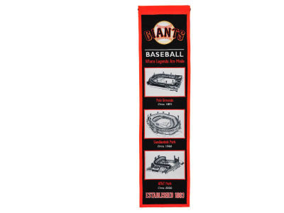 San Francisco Giants Winning Streak Stadium Evolution Banner