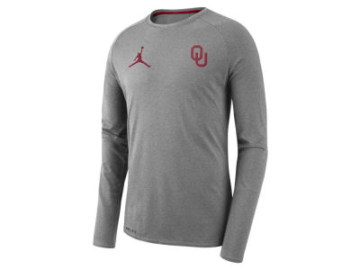 Oklahoma Sooners Jordan NCAA Men's Long Sleeve Player T-shirt