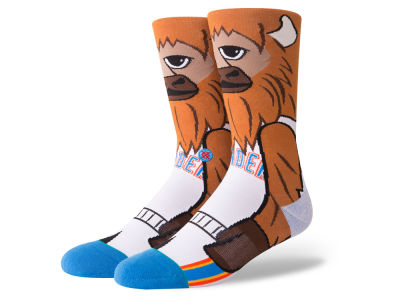 Oklahoma City Thunder Stance NBA Mascot Crew Socks