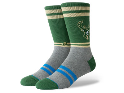 Milwaukee Bucks Stance NBA City Gym Crew Socks