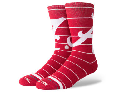 Alabama Crimson Tide Stance NCAA XL Logo Crew Socks