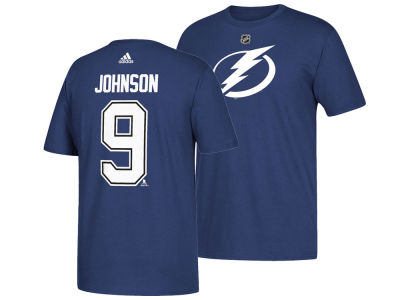 Tampa Bay Lightning Tyler Johnson adidas NHL Men's Silver Player T-shirt