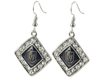 Vegas Golden Knights Aminco Crystal Diamond Earrings